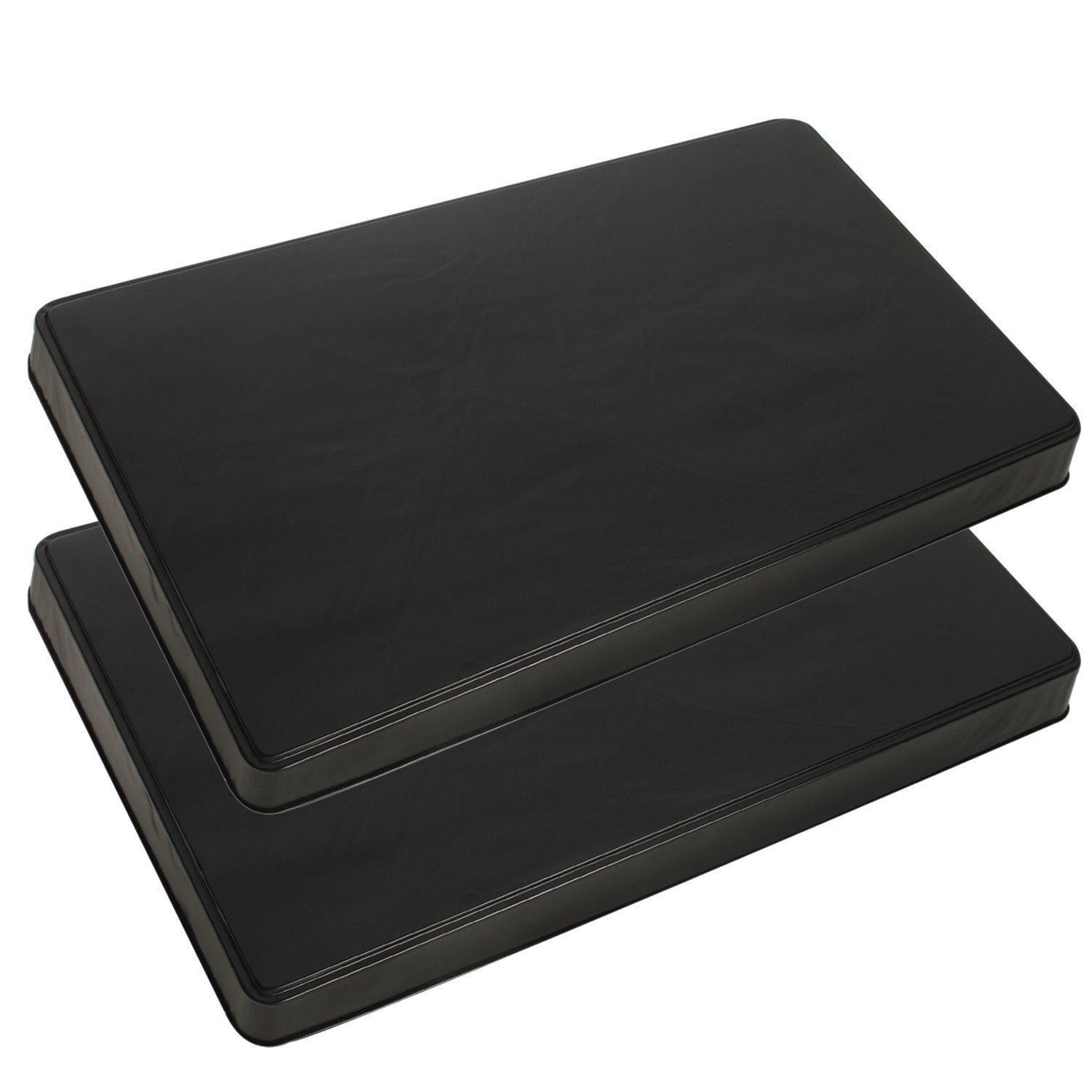 Range Kleen 572 Black Rectangular Burner Cover, Set of 2 - 21 x 11.75 x 1.75 inches