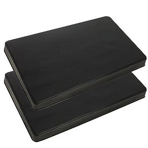 Range Kleen 572 Black Rectangular Burner Cover, Set of 2 - 21 x 11.75 x 1.75 inches