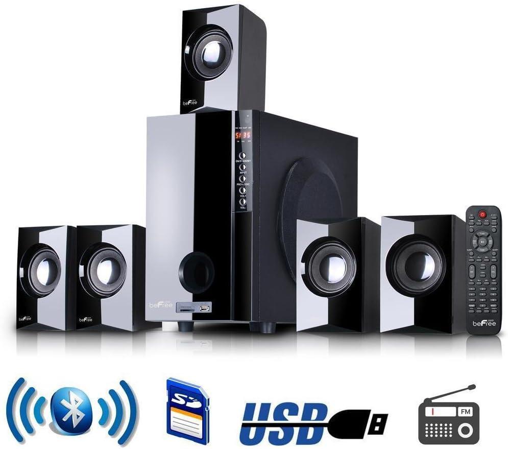 BeFree Sound BFS-430-BLK 5.1 Channel Surround Sound Bluetooth Speaker System