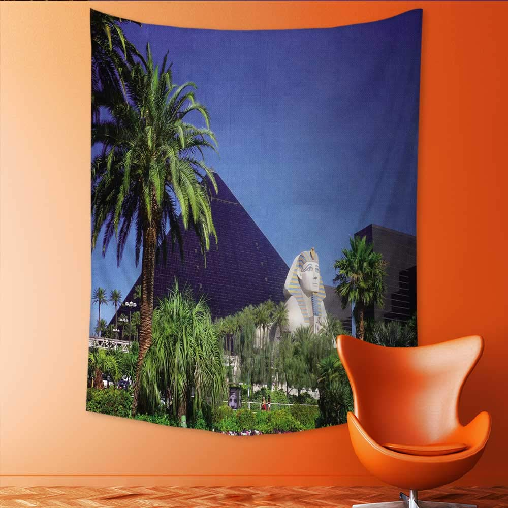 Auraisehome Vertical Version Tapestry Luxor Hotel Casino on Las Vegas Strip Throw, Bed, Tapestry, or Yoga Blanket 54W x 84L INCH