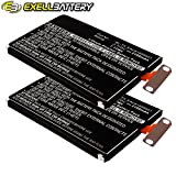 2x Exell Li-Polymer 3.8V Battery Fits LG E960 E970 E971 E973 E975 F180 Sprint LS970 Mako Nexus 4 16GB Optimus G Tablets Replaces EAC61898601, BL-T5
