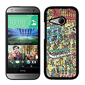 Funda carcasa para HTC One Mini 2 diseño estampado busca a Wally 1 borde negro