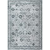 "how to make shabby chic furniture Home Dynamix and Nicole Miller | Kenmare Celeste Area Rug | Polyester Indoor | Modern Style | Soft, Easy to Clean, Stain and Fade Resistant | Gray-Blue, 31.5""x47"""