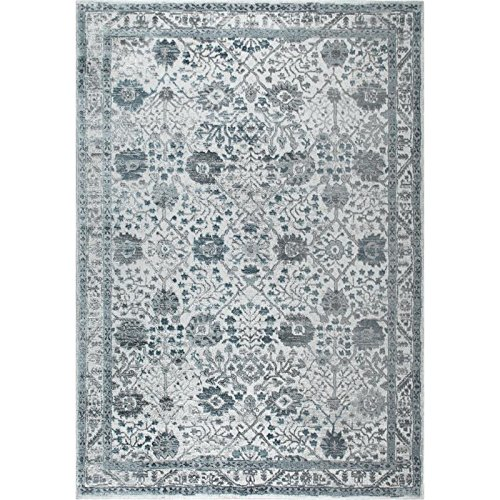 "Home Dynamix and Nicole Miller | Kenmare Celeste Area Rug | Polyester Indoor | Modern Style | Soft, Easy to Clean, Stain and Fade Resistant | Gray-Blue, 31.5""x47"""