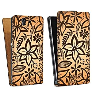 Diseño para Sony Xperia Z L36h DesignTasche Downflip black - Blooming Mix
