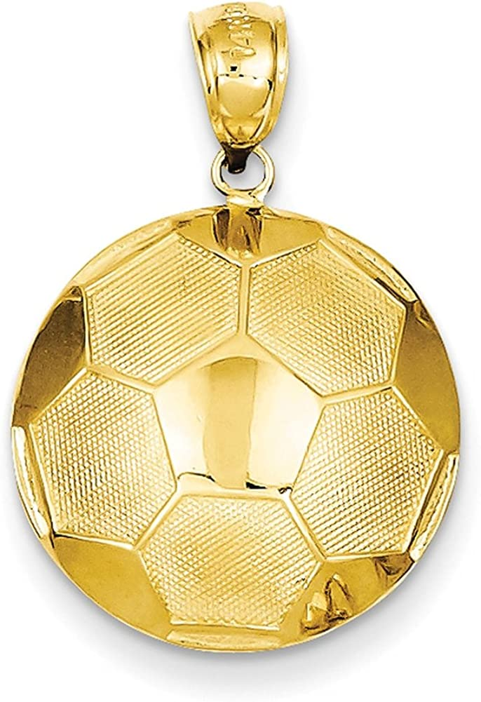 Lex & Lu - Colgante de pelota de fútbol de oro amarillo de 14 K ...
