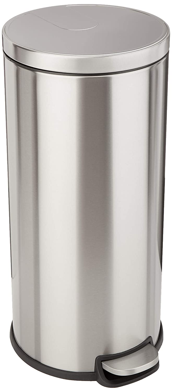 AmazonBasics Round Soft-Close Trash Can - 30L