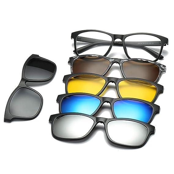 Embryform Gafas de sol con clip,Magnético 5 Piezas ...