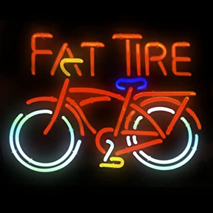 Rare Fat Tire Best Christmas Gift Neon Signs Beer Bar Pub Store Party Homeroom Decor X