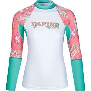 901d2aec43 DAKINE Womens Flow Print Snug Fit Long Sleeve Quick Dry Lightweight Rash  Vest Waikiki - Lightweight: Amazon.co.uk: Sports & Outdoors