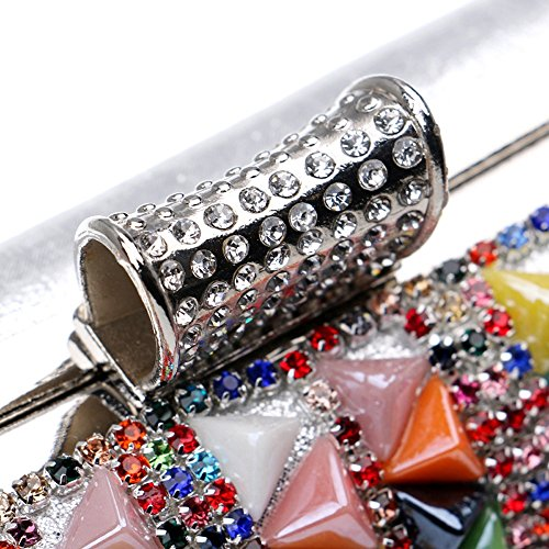 Da Le Di Donne Diamanti Sera Beading Girl Side Moda Strass Rivetto Metal Silver Summer Tutu Borse Per One Party Gold Candy Clutch 6qYwAXnEY8