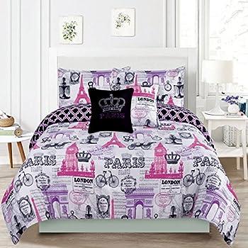 Amazon Com Bedding Queen 5 Piece Girls Comforter Bed Set