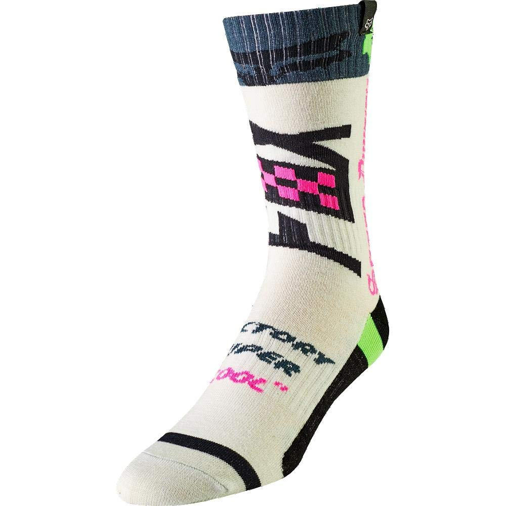 Fox Racing 2019 Youth MX Socks - Czar (LARGE) (BLACK/YELLOW) 22364-019-YL