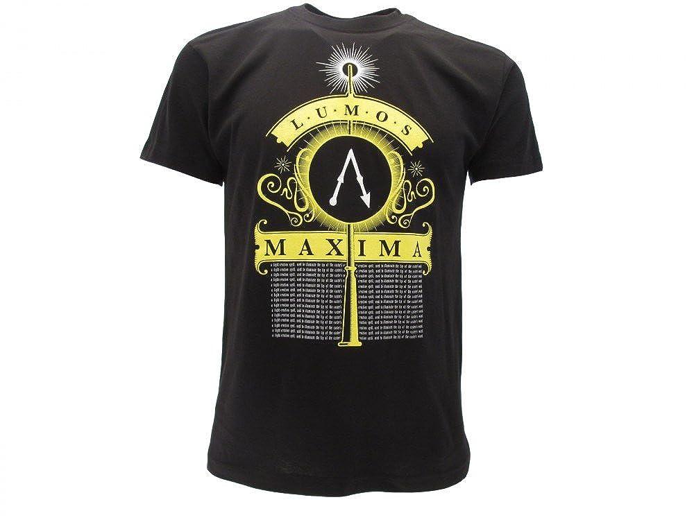 S T-shirt Originale Harry Potter Lumos Maxima Prodotto Ufficiale nera adulto e ragazzo