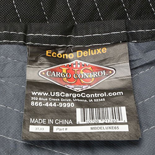 Moving Blanket (6-Pack) 72'' x 80'' - Econo Deluxe (33 Lbs/6 blankets, Black/Gray)