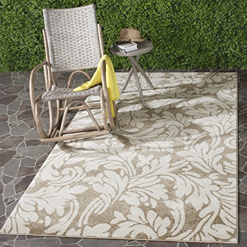 Wheat Rug (Safavieh Amherst Collection AMT425S Wheat and Beige Indoor/ Outdoor Area Rug (9' x 12'))