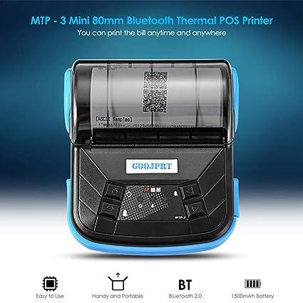 Comaie Mini Impresora térmica inalámbrica recepción Directa ...