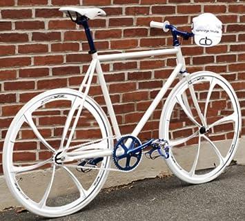 Par de 700 C Fixed Gear bicicleta de carretera manillar de bicicleta ruedas de aleación de magnesio: Amazon.es: Deportes y aire libre