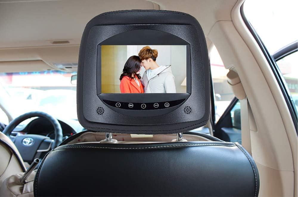 Supporto TF//SD//USB//U Disco Touchscreen HD Universale da 7 Pollici Installazione Non Distruttiva,Beige Roboraty Monitor LED per Poggiatesta Auto Cuscino TV Posteriore per Cuscino