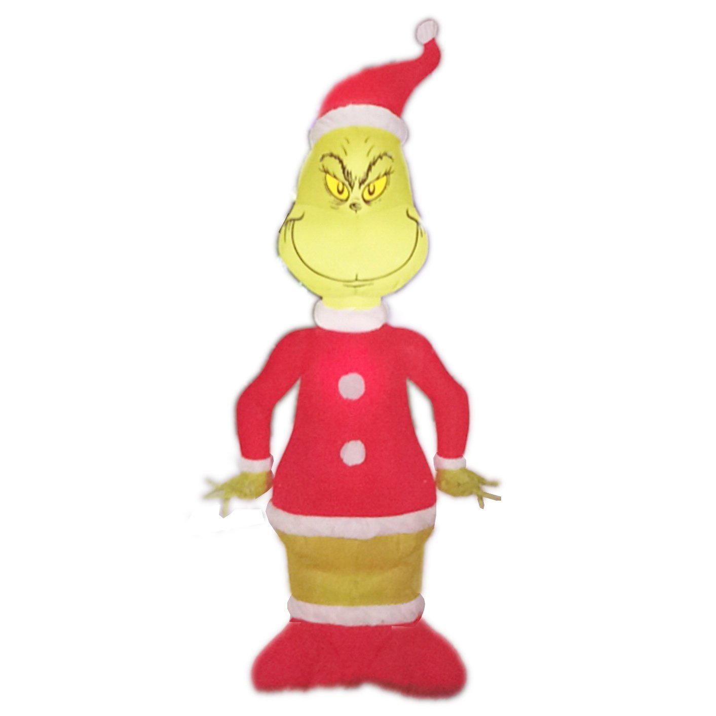 Christmas Dr Suess Inflatable 4' Grinch in Santa Suit By Gemmy