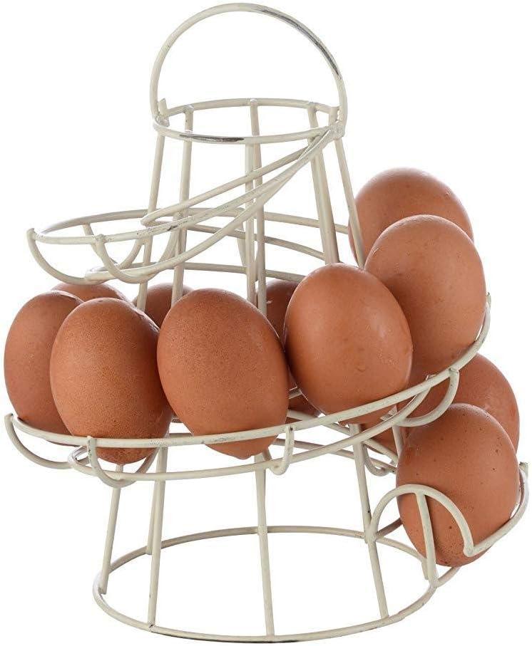 IUwnHceE Schwarz Kitchen Storage Spiral Helter Skelter Egg Halter St/änder Rack-Platz f/ür bis zu 18 Eier Haus