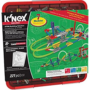 K'NEX Education – Intro to Simple Machines: Wheels, Axles, & Inclined Planes Set – 221 Pieces – Ages 8+ Engineering Educational Toy