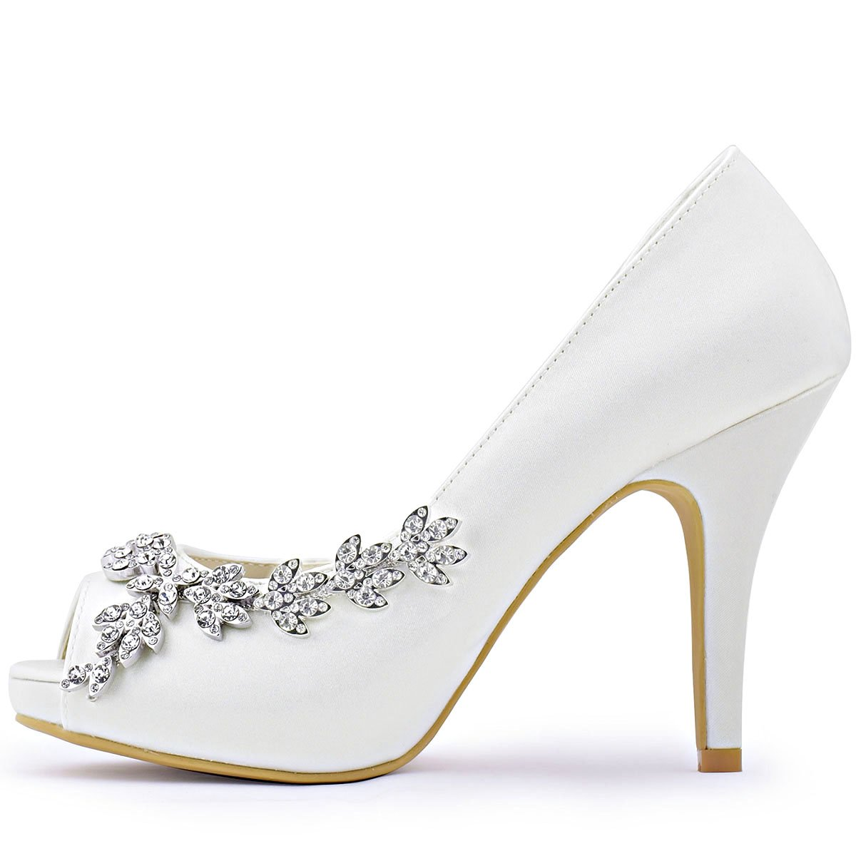 2e412ac89c1b ... ElegantPark Women s Peep Toe Toe Toe Platform High Heel Rhinestones  Satin Evening Prom Wedding Shoes B018THY4JS ...