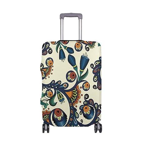 Maleta de Equipaje de Viaje con Estampado Floral, Estilo de Viaje, con Estampado Floral