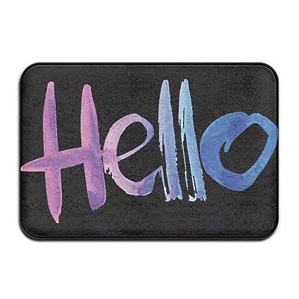 New Colorful Word Doormats Color Hello Cool Door Mat Monogram Doormat  Non Slip Doormat Coral