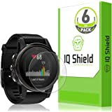 Garmin Fenix 5s Screen Protector (Garmin Fenix 5s Plus)(6-Pack), IQ Shield LiQuidSkin Full Coverage Screen Protector for Garmin Fenix 5s HD Clear Anti-Bubble Film