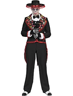 shoperama Hombre Disfraz de Day of The Dead – Traje con Calaveras ...