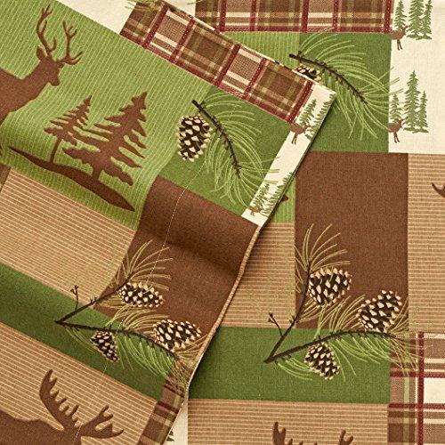 Cuddl Duds Patchwork Lodge Heavyweight Flannel Sheet Set Twin (Tree Farm Hunters Christmas)