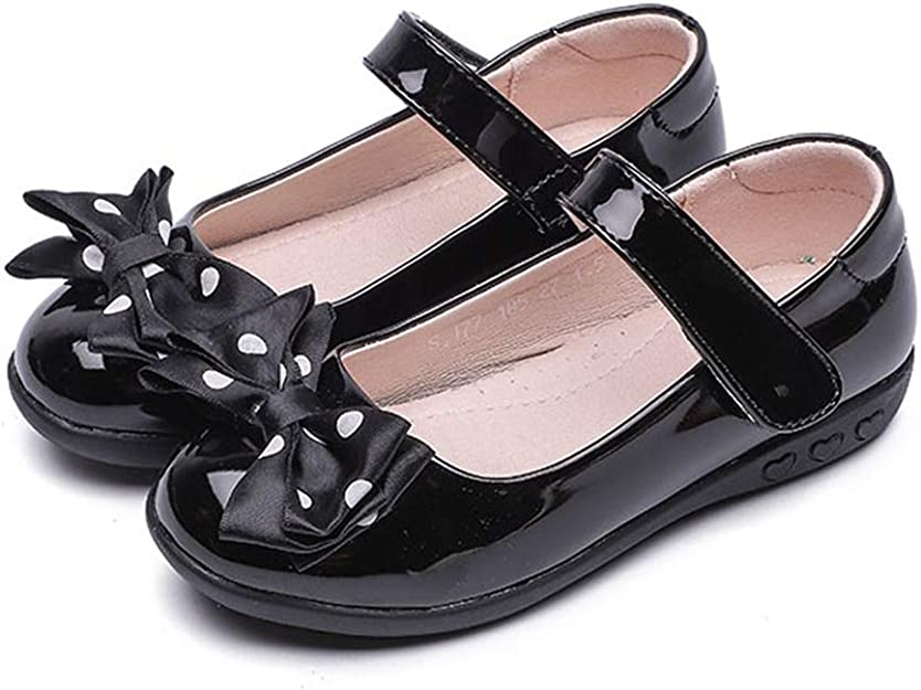 F-OXMY Girls Bowknot Ballerina Flat Shoes Breathable Mary Jane Dress Shoes Toddler//Little Kid//Big Kid