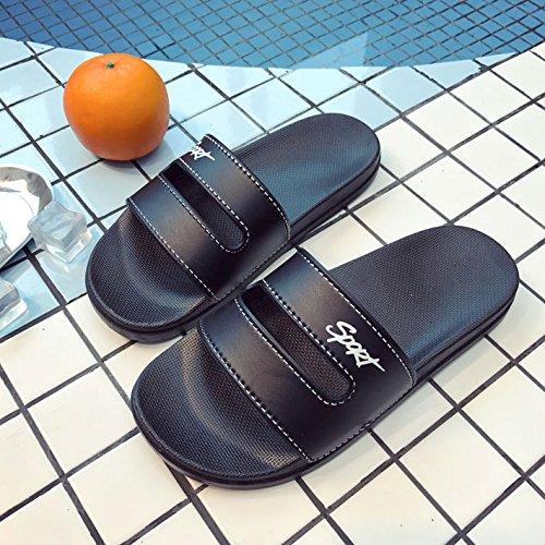 semplice soggiorno che anti spessi 38 fresca fondo di e coppie indossano slittamento marea spiaggia morbido donna nbsp;La pantofole estate 37 uomini Fankou nero OTIqw