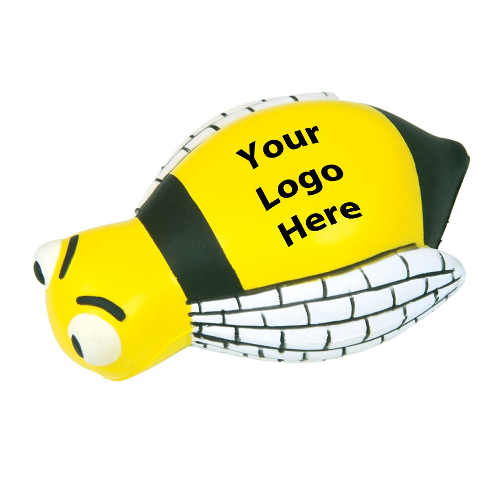 Bumble Bee Stress Reliever - 150 Quantity - $3.00 Each - PROMOTIONAL PRODUCT / BULK / BRANDED with YOUR LOGO / CUSTOMIZED