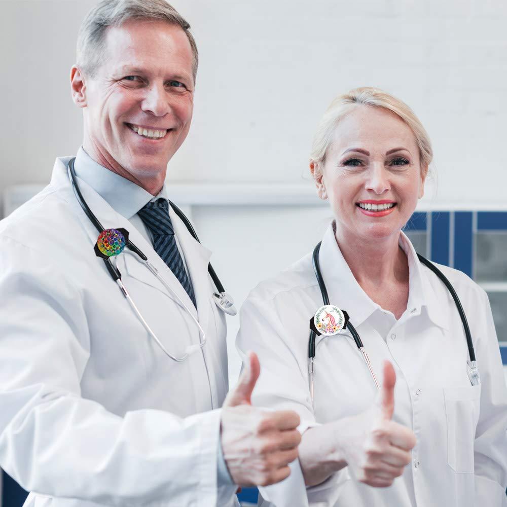 Hospital Nurse Identification HEYGOO Boho Multicolored Adjustable Stethoscope Id Name Tag