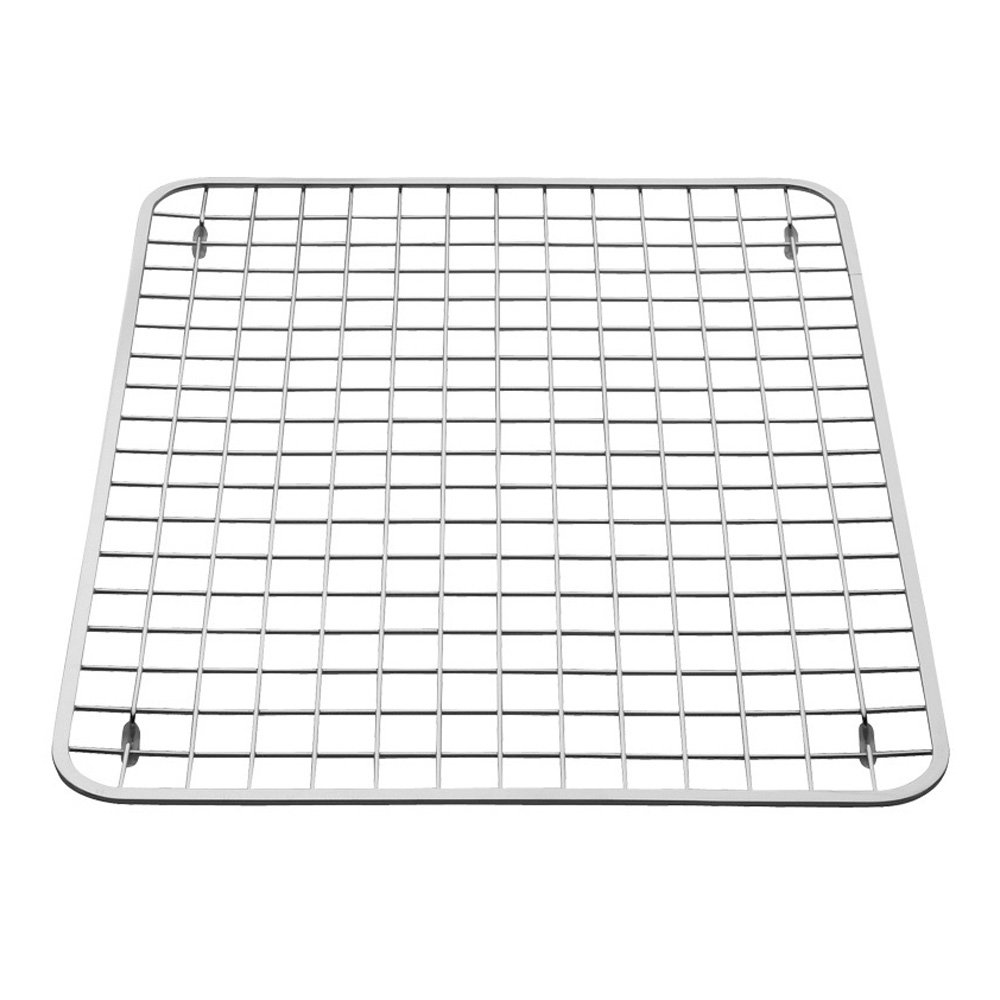 InterDesign Gia Kitchen Sink Protector - Wire Grid Mat – Large, Polished