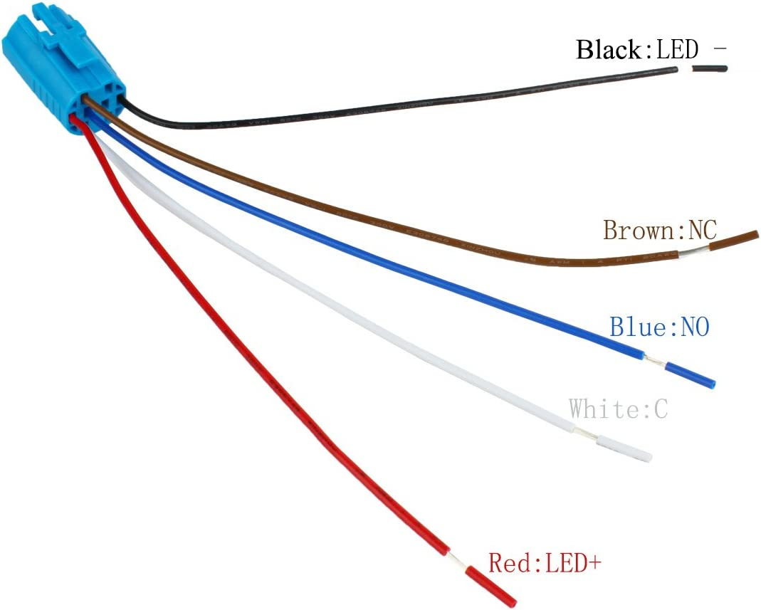5/unidades de kgwc 01 Pigtail para interruptor de presi/ón cable conector larcele Conector hembra de 19/mm Alambre Conector