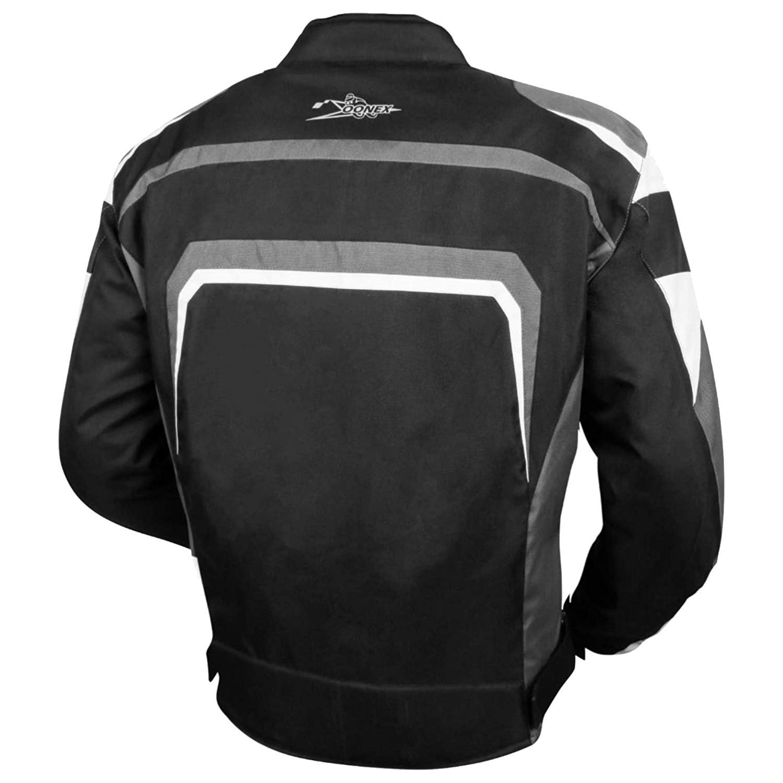 Veste noire avec protection amovible CE Ajustement parfait pour les motards Accessoires de sport en tissu Cordura Nouveau look d/ét/é Blouson de moto pour homme