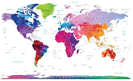 Designer World Map on