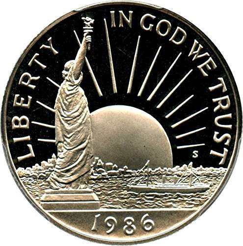 1986 S US Commemorative Proof Half Dollar Statue of Liberty 50C US Mint (1/2) Proof DCAM US Mint ()