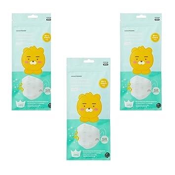 Kakao Friends Tienda Oficial Productos, Polvo Amarillo Fino Polvo mascarilla desechable Máscara