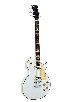 Set 2 x Guitarra eléctrica METEOR HIT, blanco - 2 unidades de Guitarra para avanzados / Guitarra de rock - klangbeisser: Amazon.es: Hogar