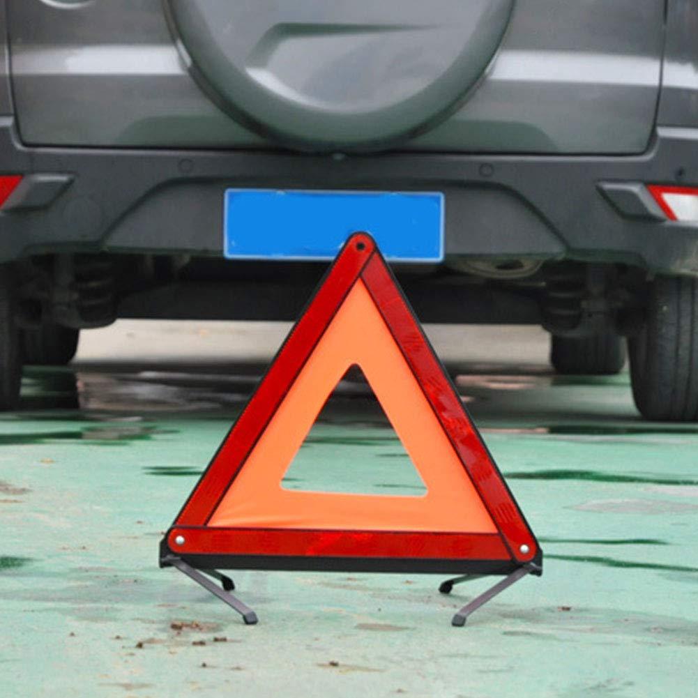 Fahrzeug-Notfallpannen-Warnschild Reflektor Free Size faltbares Sicherheits-Stra/ßenschild rot 3 St/ück Auto-Dreieck-Warnschild