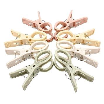 Viewnub - Juego de 8 Pinzas para Toallas de Playa (4 Colores Brillantes, Pinzas de plástico para Colcha de Pinzas): Amazon.es: Hogar