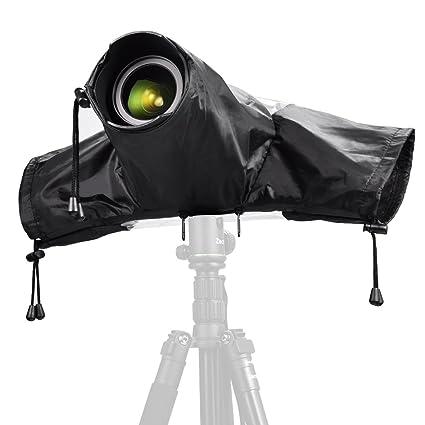 Zecti – Funda Impermeable para Proteger cámaras réflex de la Lluvia, Color Negro