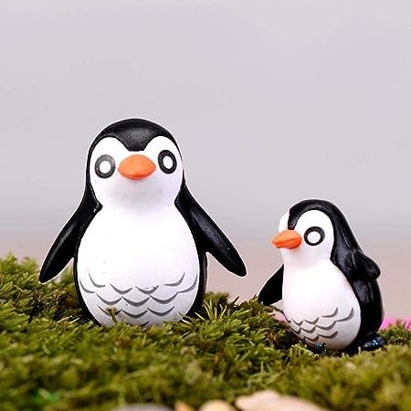 Estatuas Animales 2Pcs Pingüino Padre Y Niño Figuras Decorativas Hadas Jardín Animales Estatua Jardin Miniatura Musgo Adornos Resina: Amazon.es: Hogar