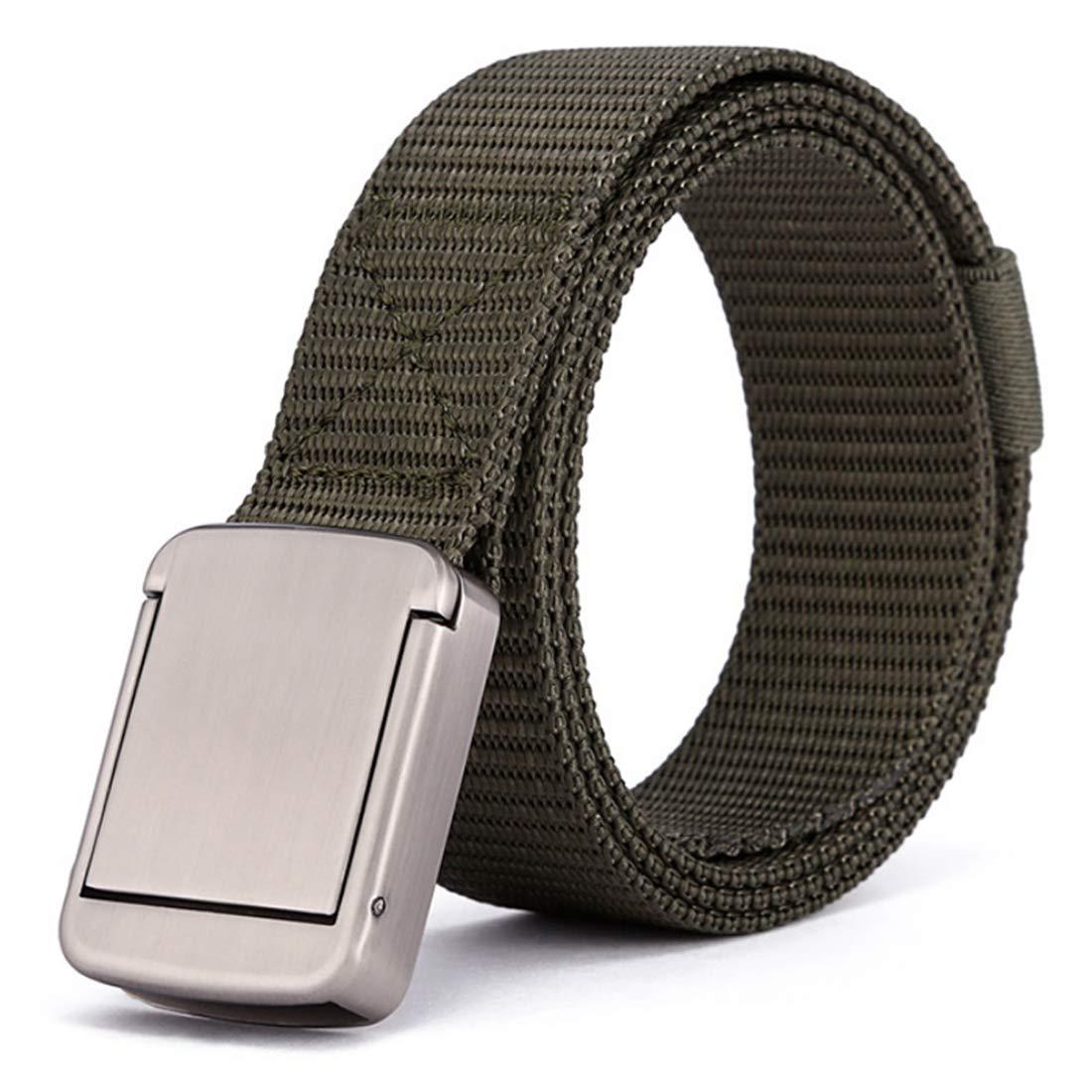 Aiweijia Cinturón de lona de nylon para hombres y mujeres cinturón táctico estilo militar correas de trabajo pesado de liberación rápida hebilla de seguridad de metal