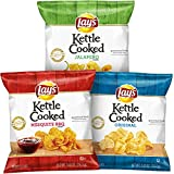 kettle chip bbq - Lay's Kettle Cooked Potato Chips Variety Pack, 40 Count