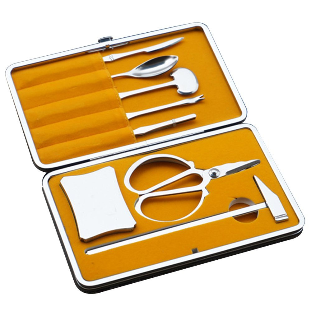 8 PCS Seafood Crab Lobster Cracker Opener Tools Kit Kitchen Tool with Storage Case Gosear